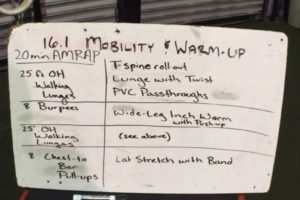CrossFit Open 16.1 Warm Up and Mobility